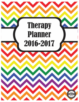 Therapy Planner 2016-2017 School Based Therapists Rainbow