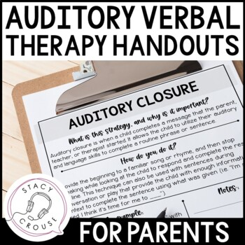 Listening and Spoken Language Strategy Handouts for Parents and Professionals