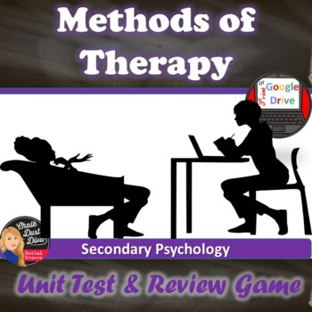 Therapy TEST and Fun Review Game (editable) Secondary Psychology