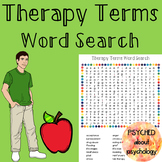 Therapy Terms Word Search
