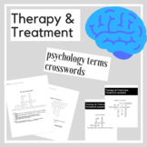 Therapy & Treatment Psychology Crossword Practice | Psycho