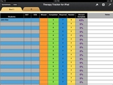 Therapy Visits Tracker for iPad (iWork-Numbers)