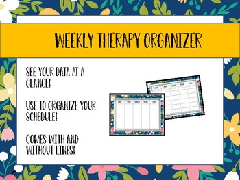 Therapy Weekly Calendar