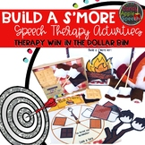 Build S'more Speech Therapy Activities: Therapy Win in the Dollar Bin