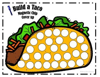 Therapy Win in the Dollar Bin Build a Taco Speech Therapy Activities
