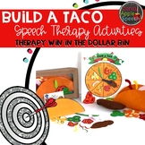 Build a Taco Speech Therapy Activities: Therapy Win in the Dollar Bin