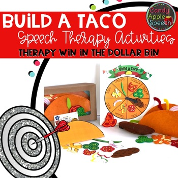 Taco Speech Therapy Activities: Therapy Win in the Dollar Bin