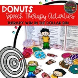 Donut Speech Therapy Activities: Therapy Win in the Dollar Bin