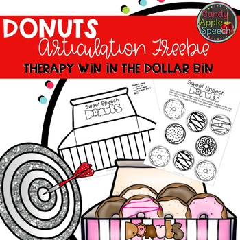 Donut Theme Articulation Freebie: Therapy Win in the Dollar Bin