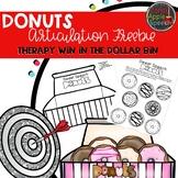 Donut Articulation Freebie: Therapy Win in the Dollar Bin