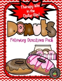 Donut Theme Following Directions Pack: Therapy Win in the Dollar Bin