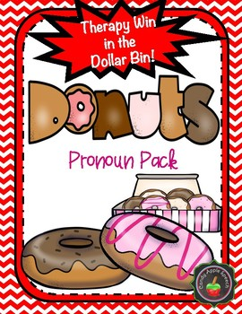 Donut Theme Pronoun Pack: Therapy Win in the Dollar Bin