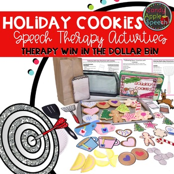 Therapy Win in the Dollar Bin Holiday Cookie Speech Therapy Activity Pack