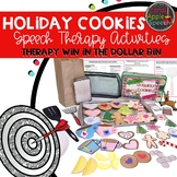 Holiday Cookie Speech Therapy Activities: Therapy Win in the Dollar Bin