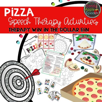 Therapy Win in the Dollar Bin Pizza Speech Therapy Activity Pack
