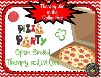 Therapy Win in the Dollar Bin Pizza Theme Open Ended Therapy Activities