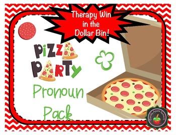 Pizza Theme Pronoun Pack: Therapy Win in the Dollar Bin