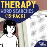 Therapy Word Search Collection for Counselors, Therapists,