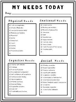 Self-Esteem Worksheets: Fill Your Emotional Cup with Self-Care