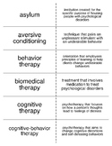 Therapy and Treatment Flash Cards For Psychology