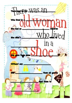 There Aas an Old Woman Nursery Rhyme- Fill in the Blanks