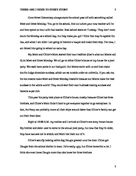 There Are 2 Sides to Every Story (Chapter Book) - PDF Format