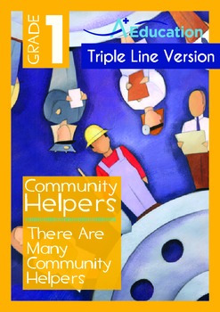 There Are Many Community Helpers (with 'Triple-Track Writing Lines')