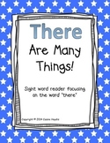 """""""There Are Many Things!"""" Digraph th Sight Word Reader Book"""