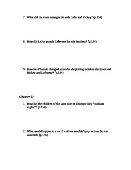 There Are No Children Here Study Guide Questions for Chapters 16-18