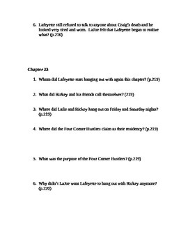 There Are No Children Here Study Guide Questions for Chapters 22-24