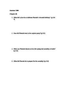 There Are No Children Here Study Guide Questions for Chapters 25-27
