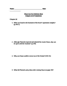 There Are No Children Here Study Guide Questions for Chapt