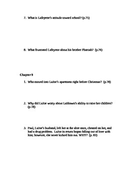 There Are No Children Here Study Guide Questions for Chapters 7-9