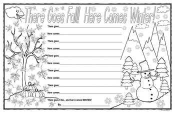 There Goes Fall! Here Comes Winter!  Poetry Template