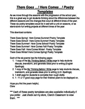 There Goes...!  Here Comes...! Poetry Bundle