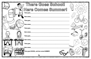There Goes School! Here Comes Summer! Poetry Template