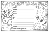 There Goes Winter! Here Comes Spring! Poetry Template!