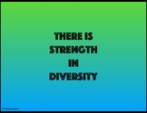 There Is Strength In Diversity - Poster, Bulletin Board