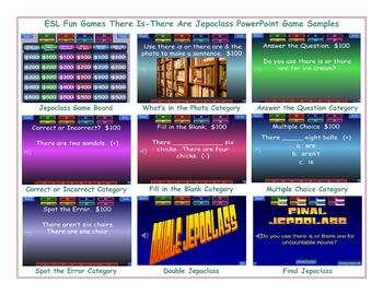 There Is-There Are Jeopardy PowerPoint Game