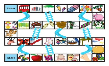 There Is versus There Are Legal Size Photo Chutes and Ladders Game