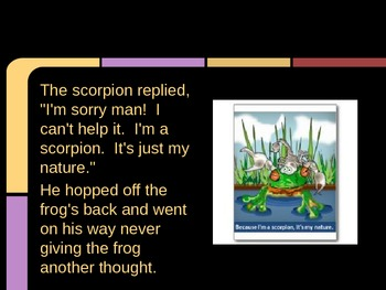 There Once Was a Scorpion/ Choose Your Friends Wisely Powerpoint
