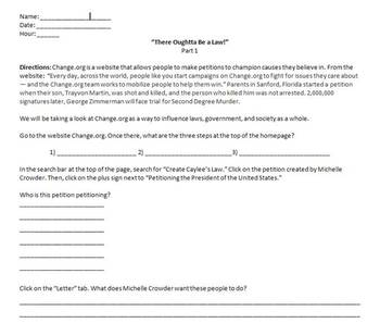 There Oughtta Be a Law! a Common Core Based Social Studies Project