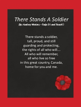 There Stands A Soldier A Remembrance Day Or Veterans Day Poem For Children