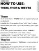 There/Their/They're: Grammar Study Tool