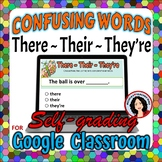 There, Their, They're Google Classroom Digital File Confusing Words