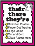They're, Their, There Homophone Activities