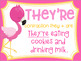 There, Their, They're Homophone Posters Flamingo Theme