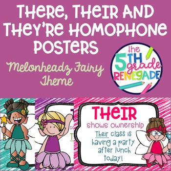 There, Their, They're Homophone Posters Melonheadz Fairy Theme
