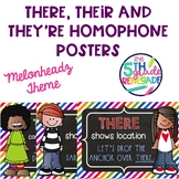 There, Their, They're Posters Cute Colorful Kids Theme