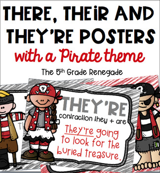 There, Their, They're Posters Pirate Theme